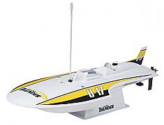 Round Nose Hydroplane Remote Control Boat - AquaCraft Mini Thunder